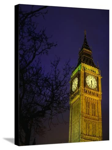 Big Ben at Night, London, Greater London, England-Jan Stromme-Stretched Canvas Print