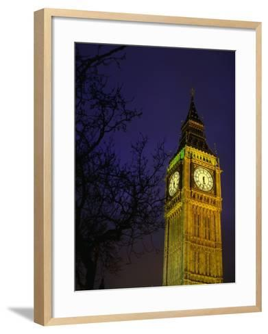 Big Ben at Night, London, Greater London, England-Jan Stromme-Framed Art Print