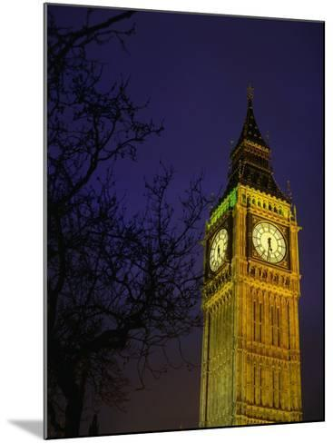 Big Ben at Night, London, Greater London, England-Jan Stromme-Mounted Photographic Print