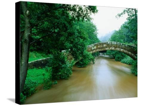 Beggars Bridge Over River Esk in North York Moors National Park, England-Mark Daffey-Stretched Canvas Print