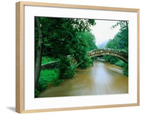 Beggars Bridge Over River Esk in North York Moors National Park, England-Mark Daffey-Framed Art Print