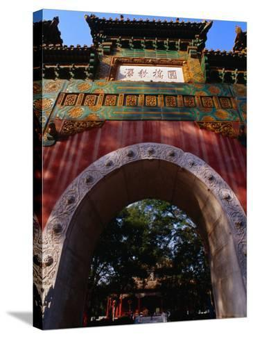 Glazed Archway of Imperial College Bejing, China-Phil Weymouth-Stretched Canvas Print