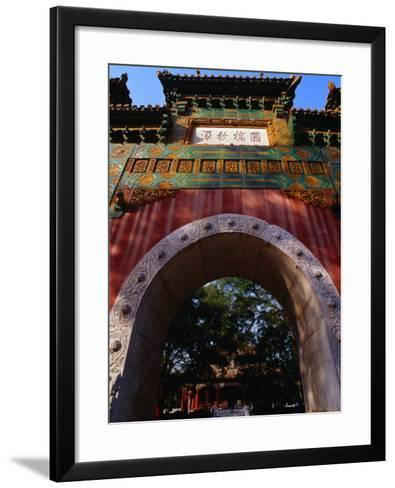 Glazed Archway of Imperial College Bejing, China-Phil Weymouth-Framed Art Print