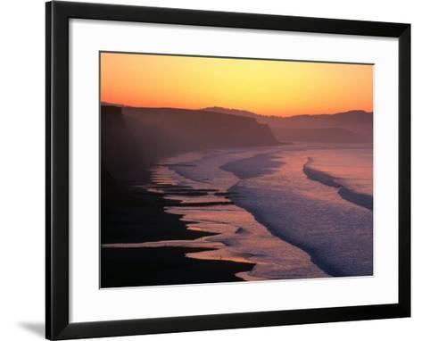 Drakes Bay at Sunrise, Point Reyes National Seashore, USA-John Elk III-Framed Art Print