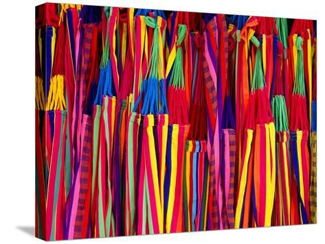 Hammocks Displayed for Sale at Market, Barranquilla, Colombia-Krzysztof Dydynski-Stretched Canvas Print