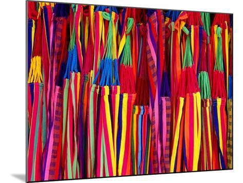 Hammocks Displayed for Sale at Market, Barranquilla, Colombia-Krzysztof Dydynski-Mounted Photographic Print