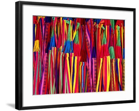 Hammocks Displayed for Sale at Market, Barranquilla, Colombia-Krzysztof Dydynski-Framed Art Print