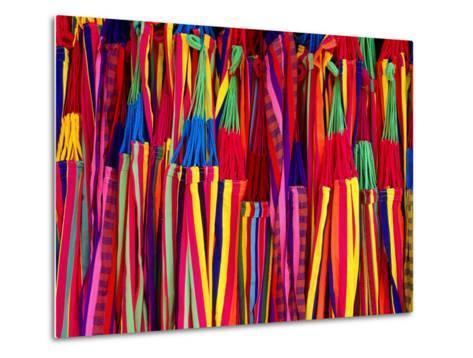 Hammocks Displayed for Sale at Market, Barranquilla, Colombia-Krzysztof Dydynski-Metal Print