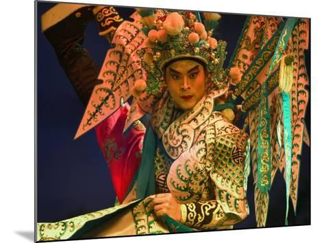 Performer in Chinese Opera, Sheng Hong Temple, Singapore, Singapore-Michael Coyne-Mounted Photographic Print