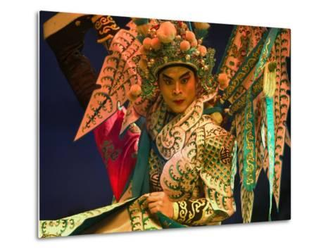 Performer in Chinese Opera, Sheng Hong Temple, Singapore, Singapore-Michael Coyne-Metal Print