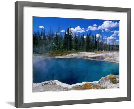 Steam Rising from Abyss Pool in West Thumb Geyser Basin, Yellowstone National Park, USA-John Elk III-Framed Art Print