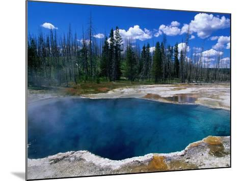 Steam Rising from Abyss Pool in West Thumb Geyser Basin, Yellowstone National Park, USA-John Elk III-Mounted Photographic Print
