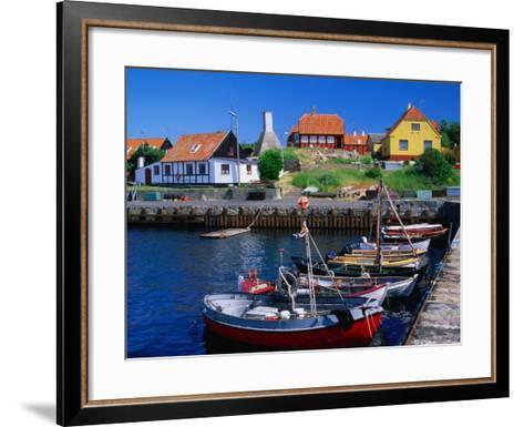 Small Village Harbour, Gudhjem, Bornholm, Denmark-Anders Blomqvist-Framed Art Print