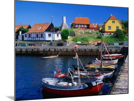 Small Village Harbour, Gudhjem, Bornholm, Denmark-Anders Blomqvist-Mounted Photographic Print