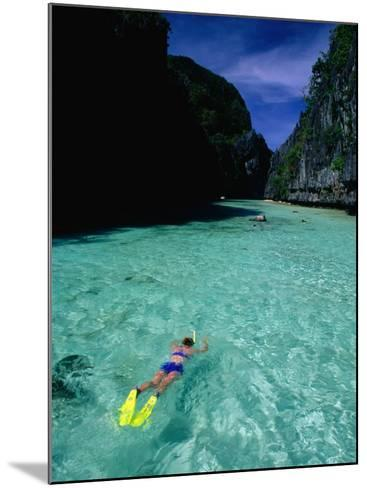 Snorkelling in the Big Lagoon, El Nido, Miniloc Island, Palawan, Philippines-Mark Daffey-Mounted Photographic Print
