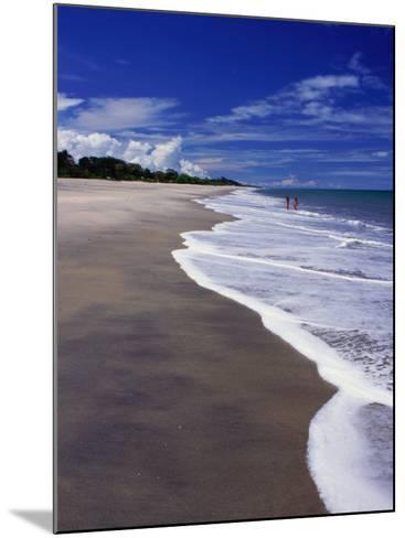 Distant Couple Walking on Beach, Santa Clara, Panama-Alfredo Maiquez-Mounted Photographic Print