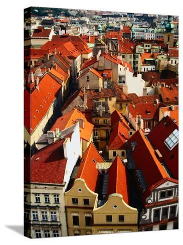 Looking Over Old Town Towards Church of St. Gall, Prague, Czech Republic-Jonathan Smith-Stretched Canvas Print