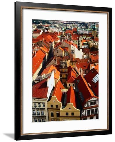 Looking Over Old Town Towards Church of St. Gall, Prague, Czech Republic-Jonathan Smith-Framed Art Print