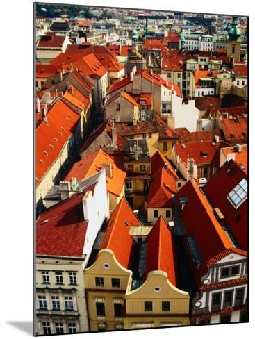 Looking Over Old Town Towards Church of St. Gall, Prague, Czech Republic-Jonathan Smith-Mounted Photographic Print