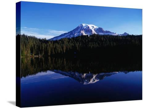 Mt. Rainier Reflected in Reflection Lake, Mt. Rainier National Park, USA-Brent Winebrenner-Stretched Canvas Print
