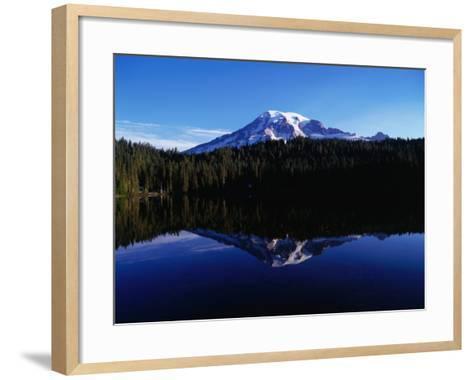 Mt. Rainier Reflected in Reflection Lake, Mt. Rainier National Park, USA-Brent Winebrenner-Framed Art Print