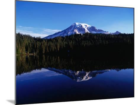 Mt. Rainier Reflected in Reflection Lake, Mt. Rainier National Park, USA-Brent Winebrenner-Mounted Photographic Print