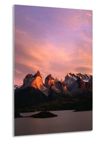 Sunrise Over Lago Pehoe and Cuernos Del Paine, Torres Del Paine National Park, Chile-Brent Winebrenner-Metal Print
