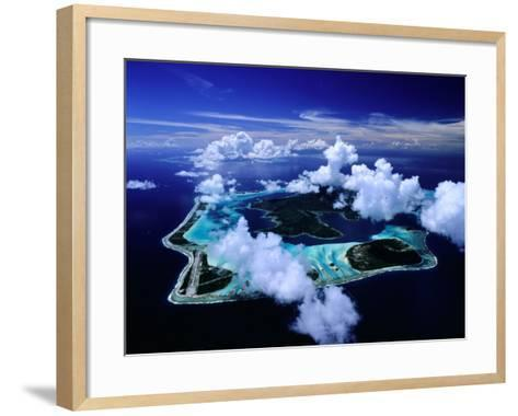 Aerial View of Islands and Surrounding Reefs, French Polynesia-Manfred Gottschalk-Framed Art Print