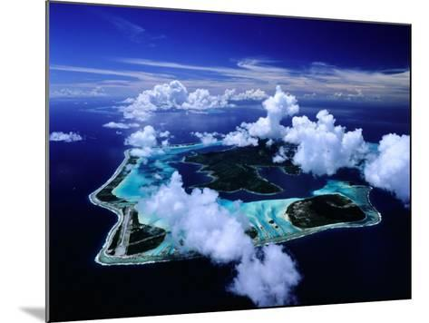 Aerial View of Islands and Surrounding Reefs, French Polynesia-Manfred Gottschalk-Mounted Photographic Print