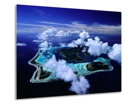 Aerial View of Islands and Surrounding Reefs, French Polynesia-Manfred Gottschalk-Metal Print