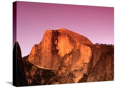 Half Dome Rock at Sundown, Yosemite National Park, California, USA-Thomas Winz-Stretched Canvas Print