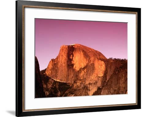 Half Dome Rock at Sundown, Yosemite National Park, California, USA-Thomas Winz-Framed Art Print