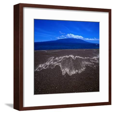 Black Volcanic Sand Beach on Isla Fernandina, Isla Fernandina, Galapagos, Ecuador-Wes Walker-Framed Art Print