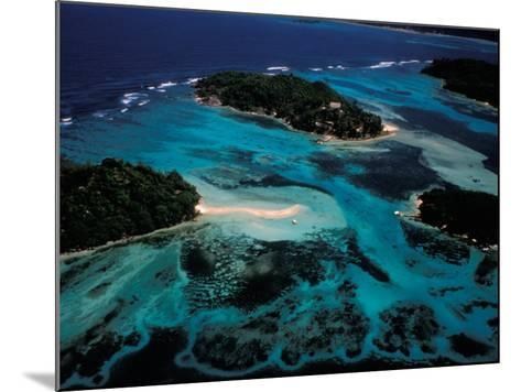 Aerial View of Ste Anne Marine National Park, Seychelles-Nik Wheeler-Mounted Photographic Print