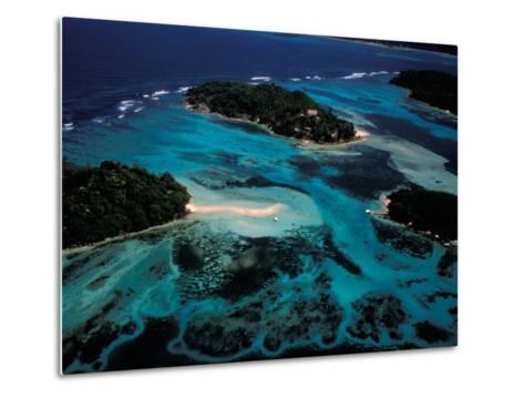 Aerial View of Ste Anne Marine National Park, Seychelles-Nik Wheeler-Metal Print