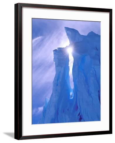 Iceberg, Australian Antarctic Territory, Antarctica-Pete Oxford-Framed Art Print