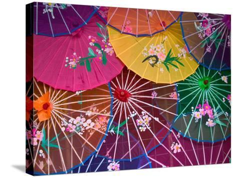 Colorful Silk Umbrellas, China-Keren Su-Stretched Canvas Print