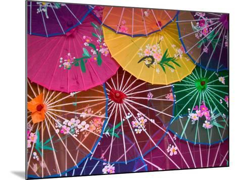 Colorful Silk Umbrellas, China-Keren Su-Mounted Photographic Print