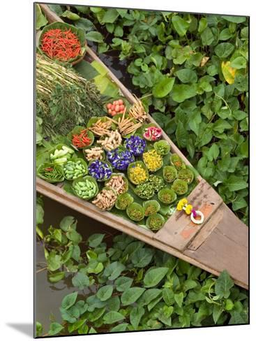 Detail of Boat in Water Lilies, Floating Market, Bangkok, Thailand-Philip Kramer-Mounted Photographic Print