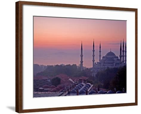 Sunrise Over the Blue Mosque, Istanbul, Turkey-Joe Restuccia III-Framed Art Print