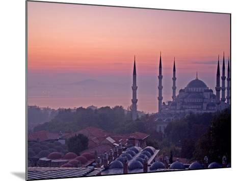 Sunrise Over the Blue Mosque, Istanbul, Turkey-Joe Restuccia III-Mounted Photographic Print