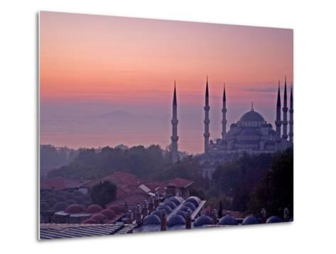 Sunrise Over the Blue Mosque, Istanbul, Turkey-Joe Restuccia III-Metal Print