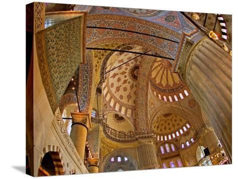 Interior of the Blue Mosque, Istanbul, Turkey-Joe Restuccia III-Stretched Canvas Print