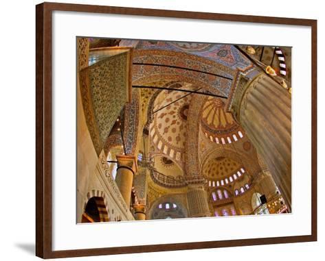 Interior of the Blue Mosque, Istanbul, Turkey-Joe Restuccia III-Framed Art Print