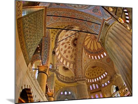 Interior of the Blue Mosque, Istanbul, Turkey-Joe Restuccia III-Mounted Photographic Print