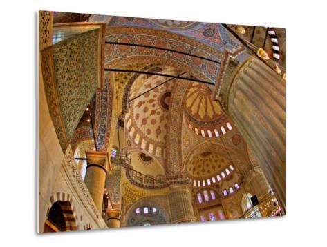 Interior of the Blue Mosque, Istanbul, Turkey-Joe Restuccia III-Metal Print