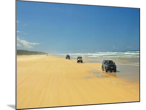 Four Wheel Drives, Seventy Five Mile Beach, Fraser Island, Queensland, Australia-David Wall-Mounted Photographic Print