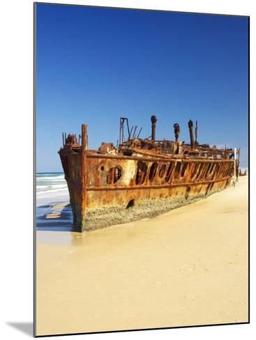 Wreck of the Maheno, Seventy Five Mile Beach, Fraser Island, Queensland, Australia-David Wall-Mounted Photographic Print