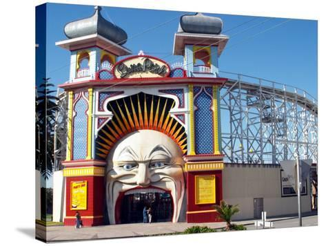 Entrance Gate to Luna Park, Melbourne, Victoria, Australia-David Wall-Stretched Canvas Print