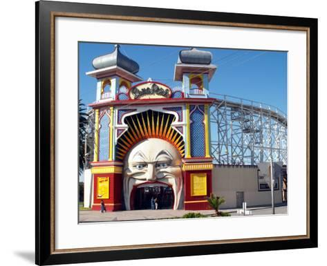 Entrance Gate to Luna Park, Melbourne, Victoria, Australia-David Wall-Framed Art Print